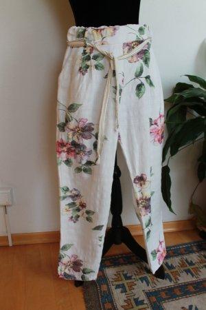 Pantalón de lino multicolor Lino