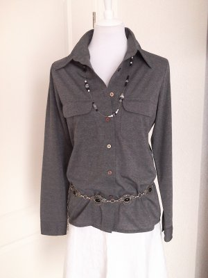 ♡Sale!schöne graue Business-Bluse, Shirt,Gr. 38/M/wie neu