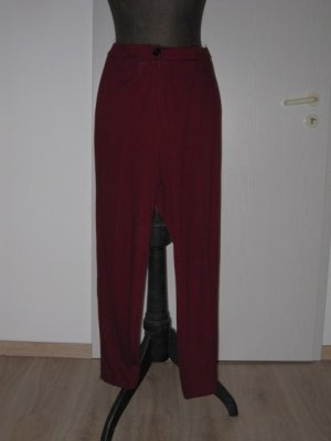 THEA 42 plus Hoge taille broek donkerrood-zwart Viscose