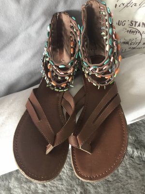 Graceland Romeinse sandalen veelkleurig kunststof