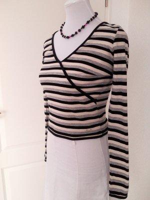 Sale%schöner dünner Pulli/Shirt von Kangaroos in schwarz-weiß gestreift,Gr.34/S