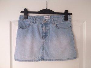 Sale%schöner sexy Jeans-Mini-Rock,hellblau,Gr.S