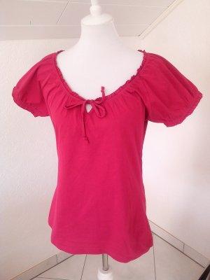 Blue Motion Camisa tipo Carmen rojo frambuesa