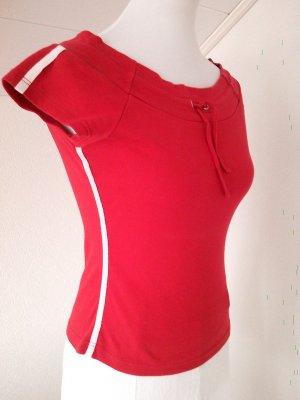 Sale%schönes rotes Shirt im Adidas-Stile von AMISU,Gr.S/36