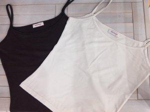 Sale%%schönes Trägershirt von Orsay,braun,weiß,Basic-Top,Spaghetti-Shirt,Gr.S/36