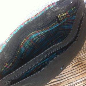Satchel black-green leather
