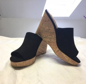 H&M Heel Pantolettes black-light brown imitation leather