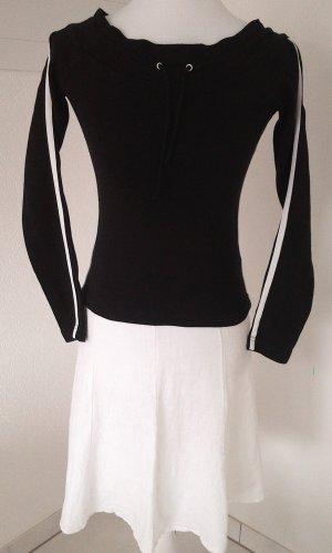Sale%schwarzes Langarm-Shirt im Adidas-Stile von AMISU,Gr.36/S