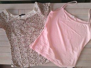 %%Sale%%Set aus Shirt und Top,rosa,BlümchenAmisu& Orsay,Gr.S/36