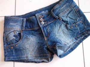 ♡Sale%sexy kurze Jeans-Hose,Hotpants,dark blue,Gr.36