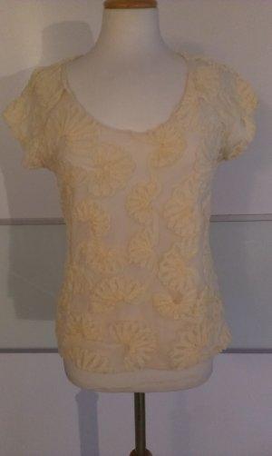 SALE....Shirt mit Blütenstickerei, Zara