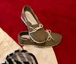 Sommerkind Zeilschoenen wit-grijs-bruin