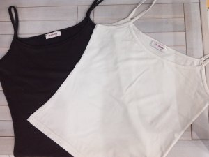 Sale%Spaghetti-Shirt/Basic-Top,weiß,braun,Orsay,Gr.S/36