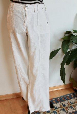 Street One Pantalón de lino blanco-blanco puro Lino