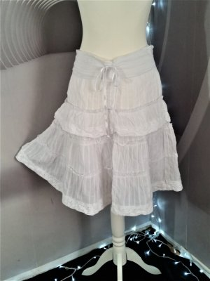 Jennifer Taylor Broomstick Skirt white cotton