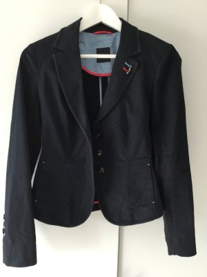 Taifun Short Blazer dark blue-red cotton