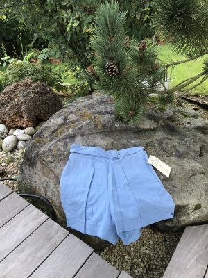 More & More High-Waist-Shorts multicolored linen
