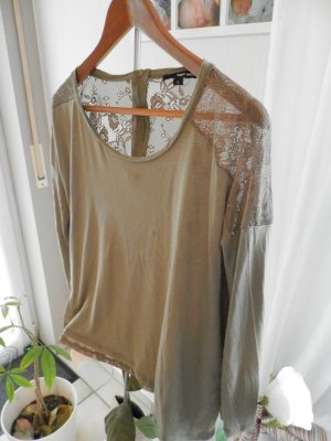 SALE!! Tolles Shirt in Olive mit Spitze Gr.36