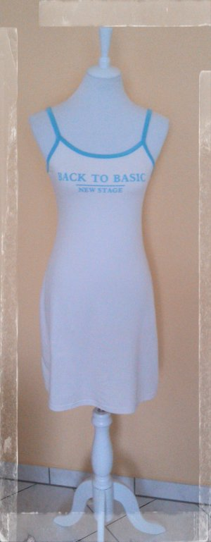 Vestido azul celeste-blanco