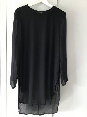 SALE - Tranparentes Longshirt in schlichtem schwarz