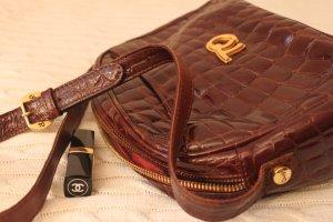 Bolsa de hombro marrón-coñac Imitación de cuero