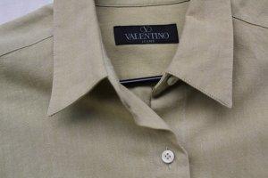C. Valentino Shirt Blouse sand brown cotton