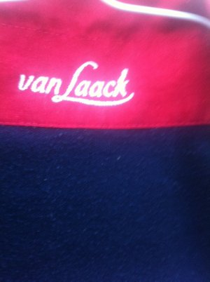 van Laack Suéter azul oscuro-rojo oscuro poliamida