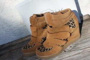 Sale: Velours Wedges, Gr.41, neuwertig, Leopardmuster