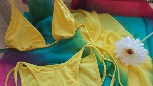 SALE!!! WEGEN UMZUG NUR NOCH HEUTE!!! Sonnengelber Triangel-Bikini Schnäppchen Sommer 34/36