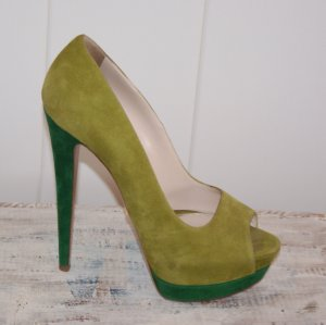 SALE !!!! wie neu -  38 ● PRADA ● PUMPS HIGH HEEL PEEPTOE ● Veloursleder