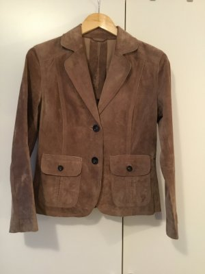 s.Oliver Leather Blazer beige leather