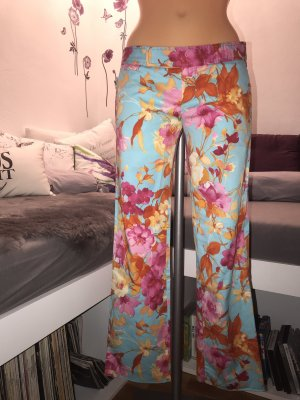 Zara Woman 7/8 Length Trousers multicolored cotton