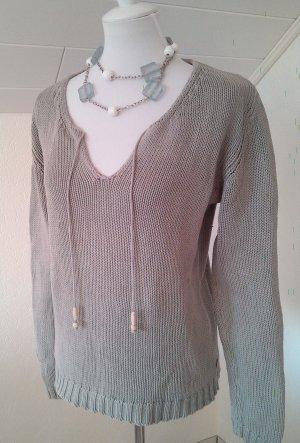 Sale%%wunderschöner Pullover,Pulli,Shirt,lässig in grau von Boysen's,Gr.S/36/38