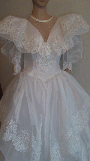 SALE!!! Wunderschönes romantisches Brautkleid Gr. 36/38 Spitze Perlen