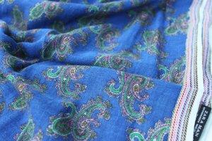 "Sale""Zara""-Langschal, Paisley- royalblue, neuwertig"