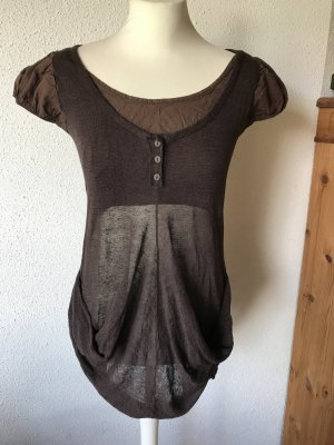 Knitted Top brown linen