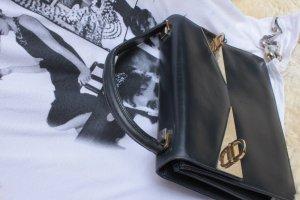 SALEsale: dunkelblau Leder'granny-bag', sehr guter Zustand, 70erJahre