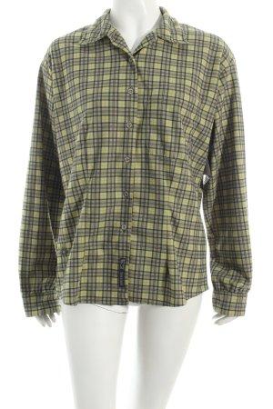 Salewa Langarmhemd grasgrün-dunkelgrau Karomuster Casual-Look