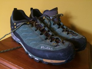 Salewa MTN trainer wanderschuh 42 8 grün top hiking