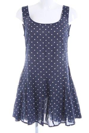 Sally&Circle Minikleid weiß-dunkelblau Punktemuster Beach-Look
