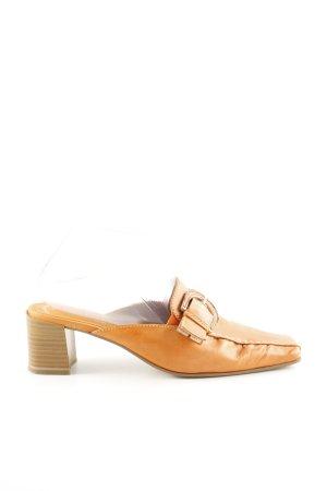 Sally O'Hara Heel Pantolettes light orange casual look