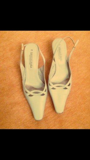 Sally O'Hara Lage schoenen babyblauw Leer