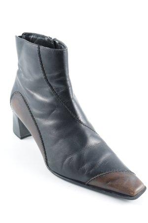 Sally O'Hara Reißverschluss-Stiefeletten schwarz-braun Elegant