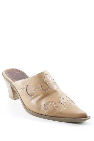 ca115fcbc86e23 Sally O Hara Sabots camel Boho-Look