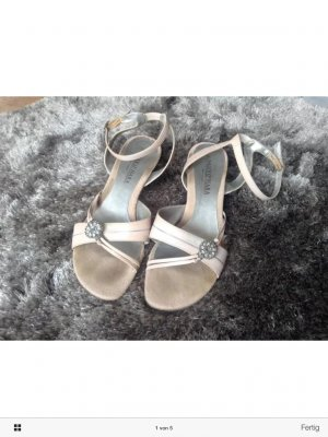 Sally O'Hara High-Heeled Sandals pink-silver-colored