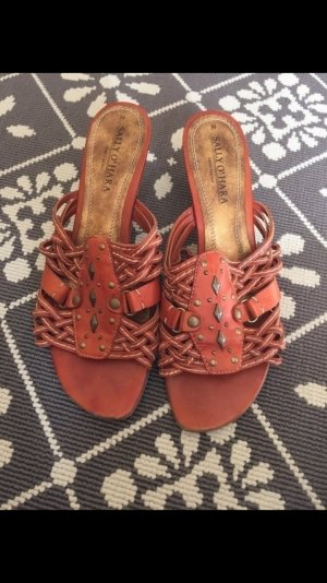 Sally O'Hara High-Heeled Sandals orange