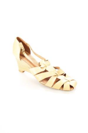 Sally O'Hara Wedges Sandaletten beige Vintage-Look