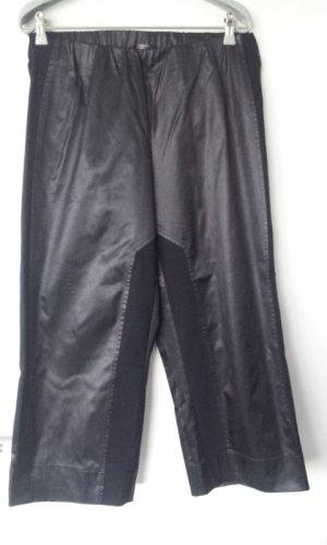 Sallie Sahne Pantalón pirata marrón oscuro tejido mezclado