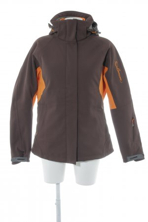 Salomon Outdoorjacke braun-orange Casual-Look
