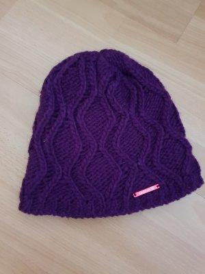 Salomon Chapeau en tricot violet foncé